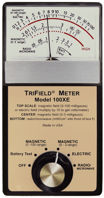 Trifield 100XE Meter 3 axis EMF meter - 50Hz- preferred for Paranormal Research