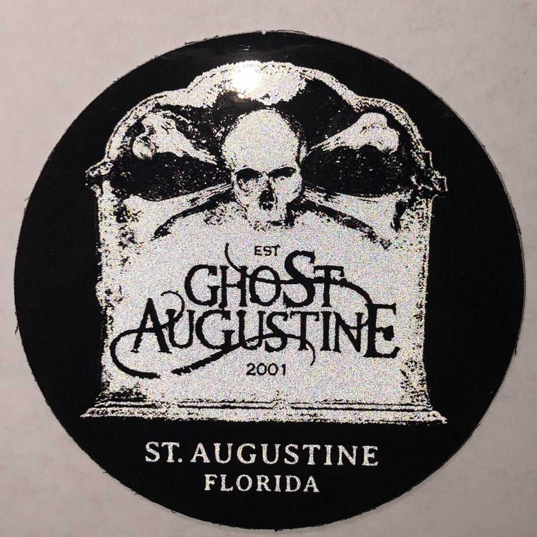 GHOST AUGUSTINE Reflective Sticker - 3 inches