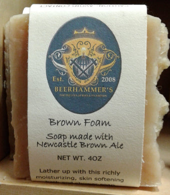 Brown Foam Beer Soap With Newcastle Brown Ale