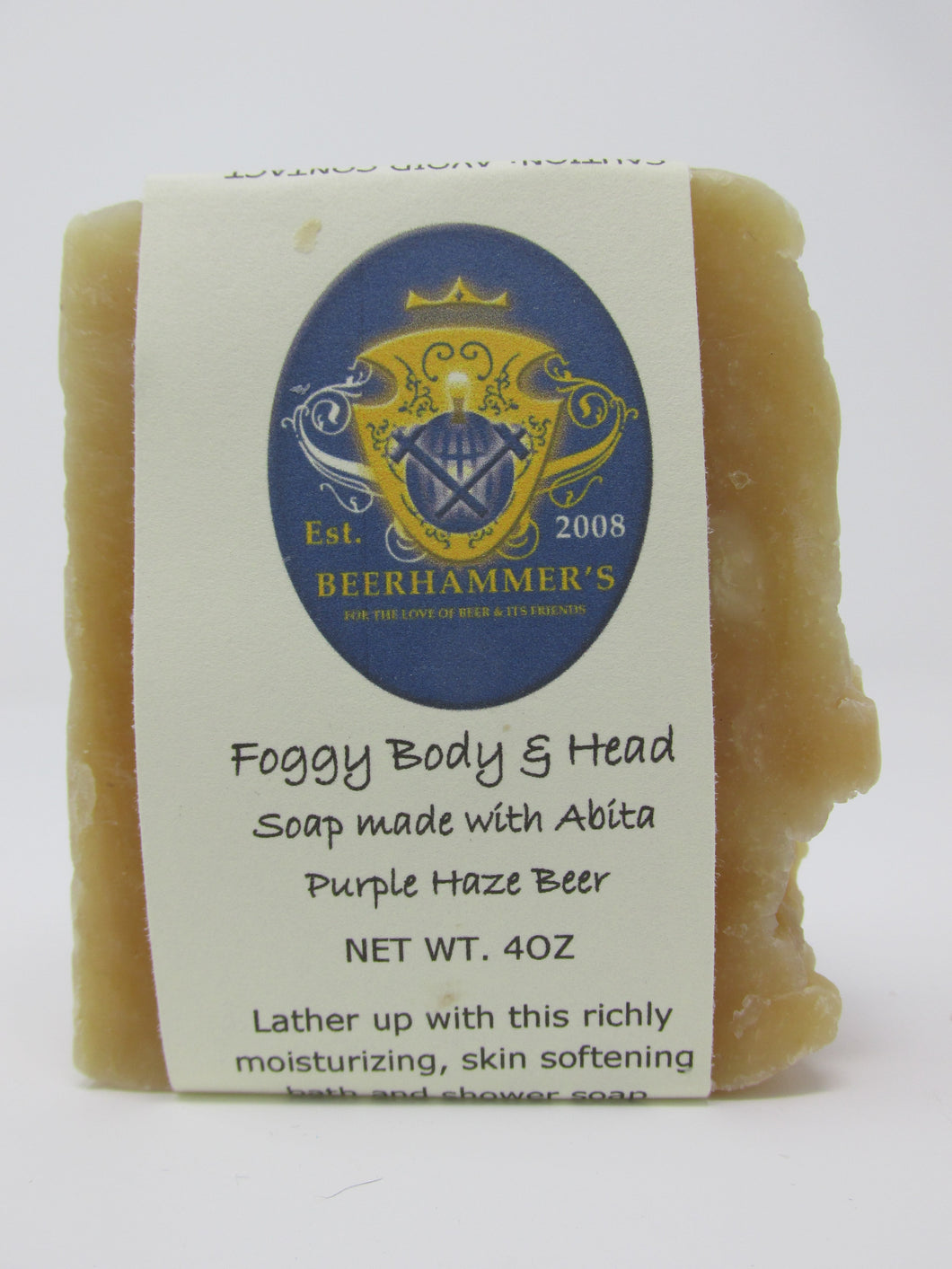 Foggy Body & Head Beer Soap with Abita Purple Haze