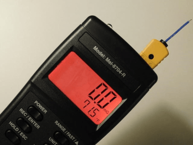 Mel Meter 8704R EMF & Temperature Detection in F and C