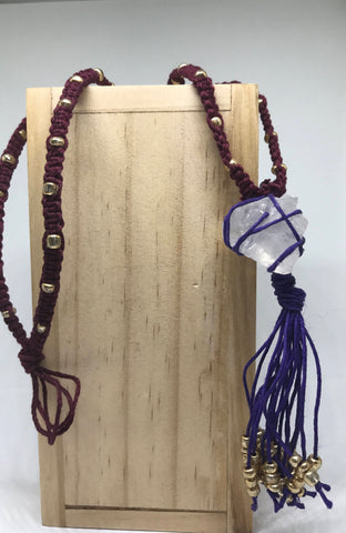 Raw Crystal Quartz Necklace Made With Hemp Chord