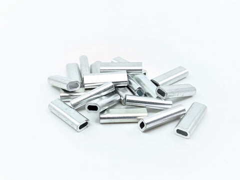 Aluminium Crimp 20pk 2.0mm 18mm Long