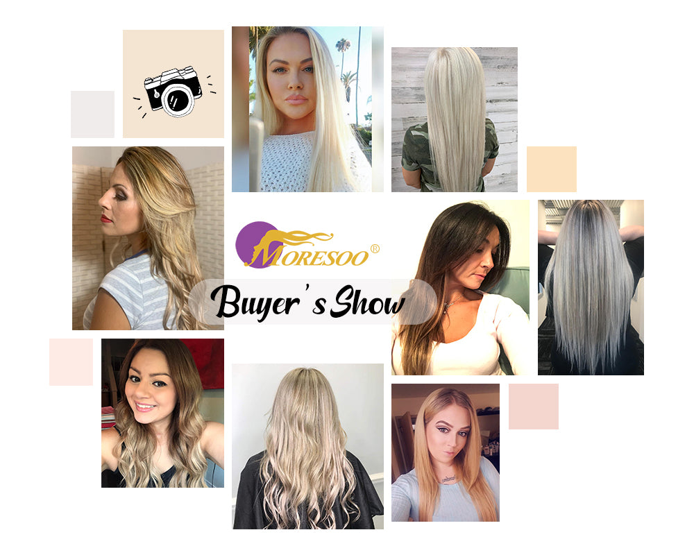 hair extensions tape in highlight color