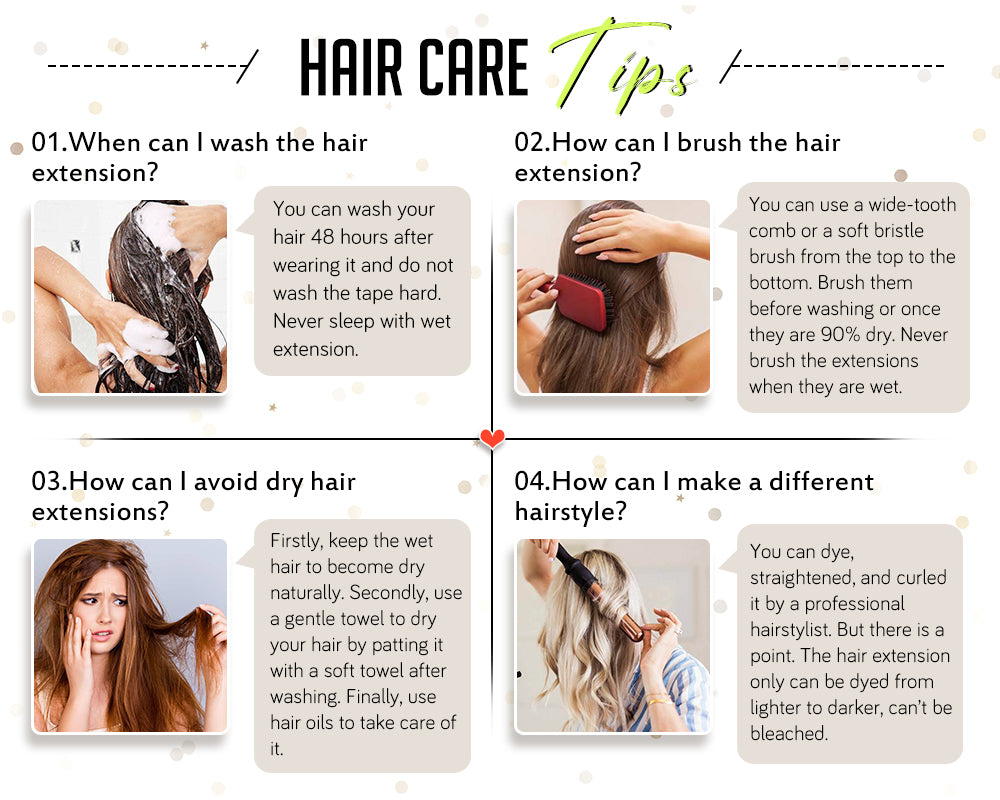 how to care hair extension tape hair extensions