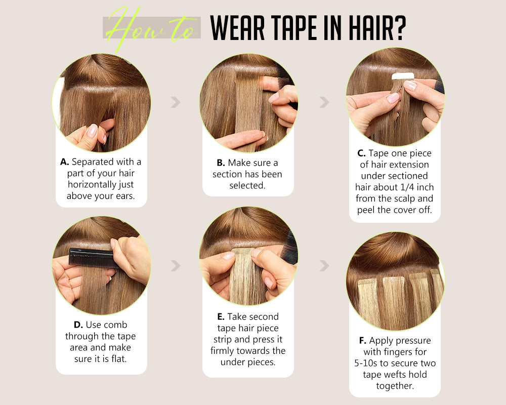 how to wear tape in hair tape hair extensions human hair