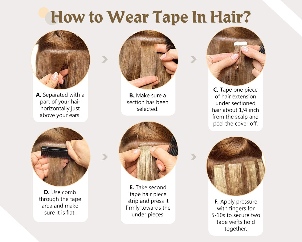 wear tape in hair extensions