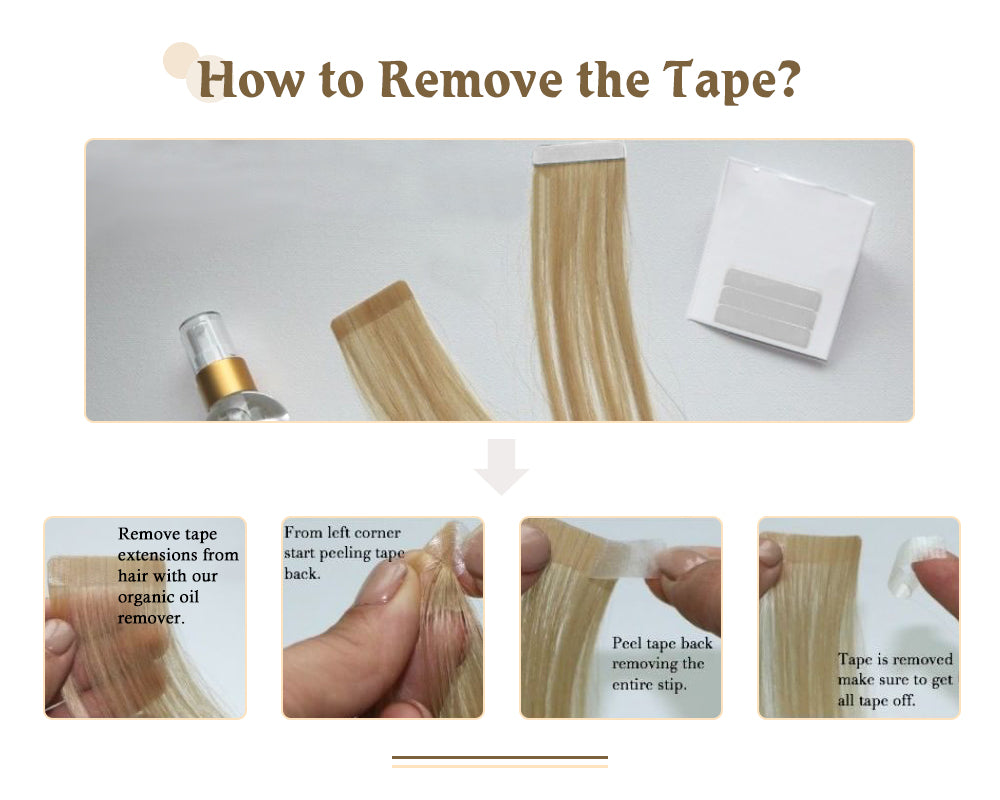 remove hair extensions tape in