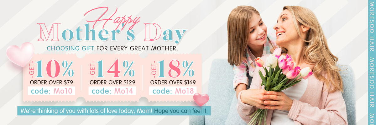 Happy mother's Day remy human hair quality human hair extensions