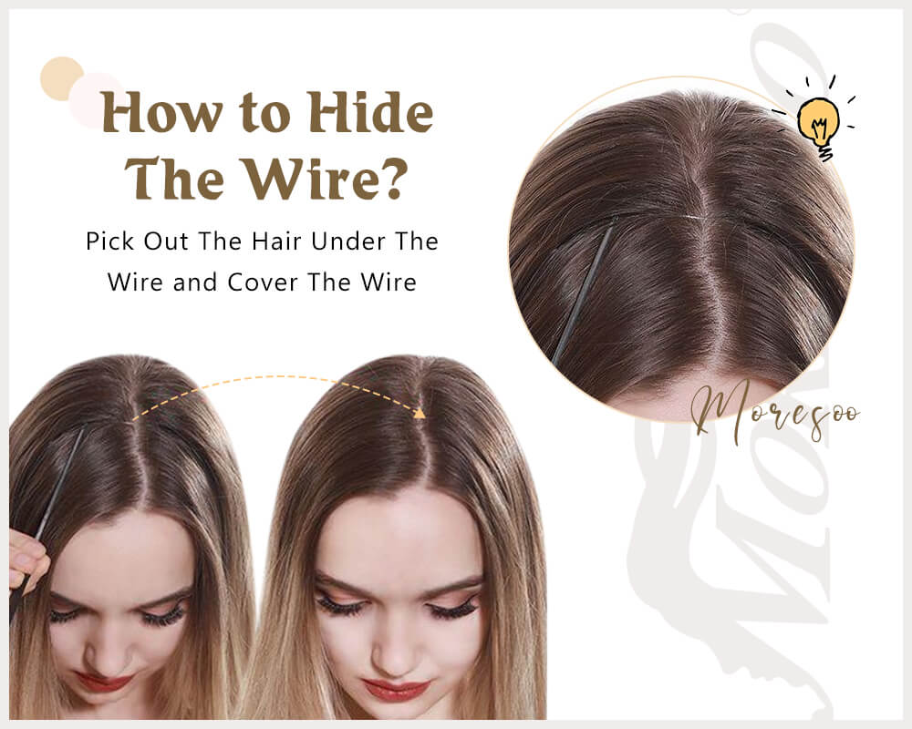 how to hide the wire of halo hair
