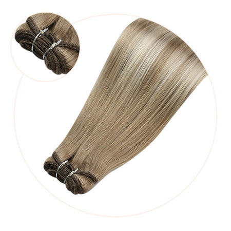hair extensions real human hair sew in weft bundles