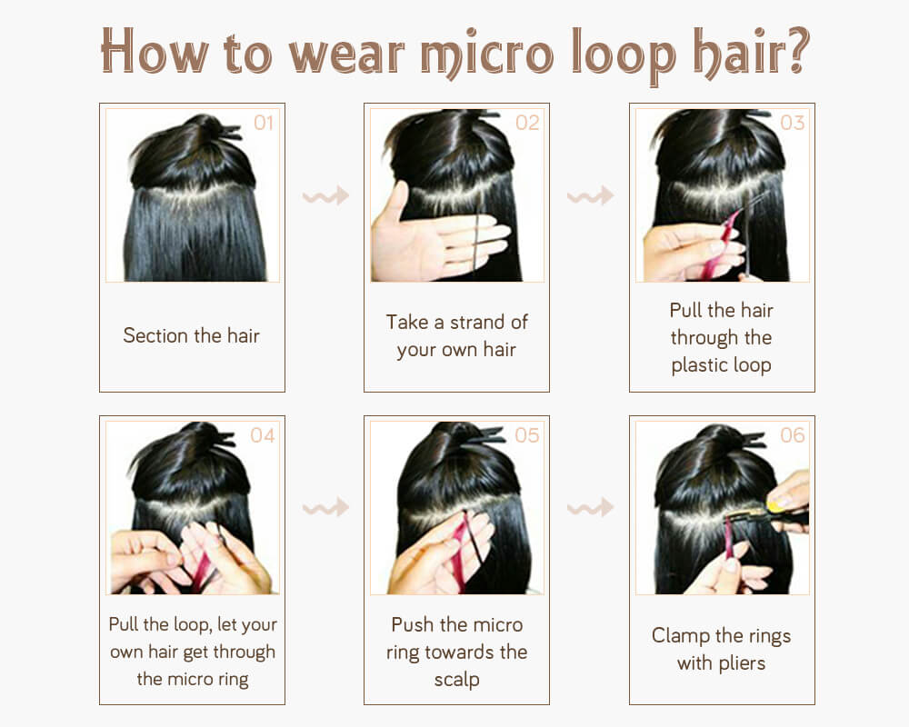 how to wear micro ring pre bonded remy human hair extensions