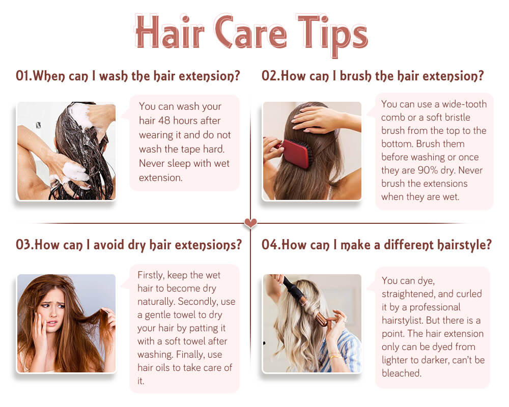 take care of remy u tip human hair extensions