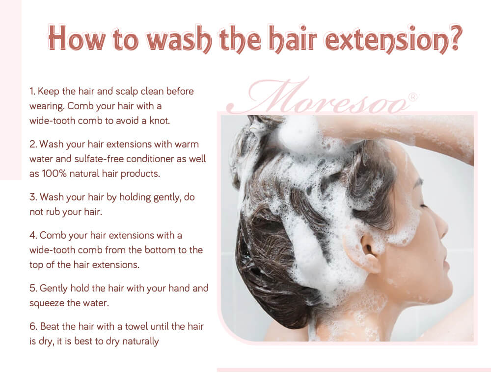 how to wash pre bonded remy u tip human hair extensions