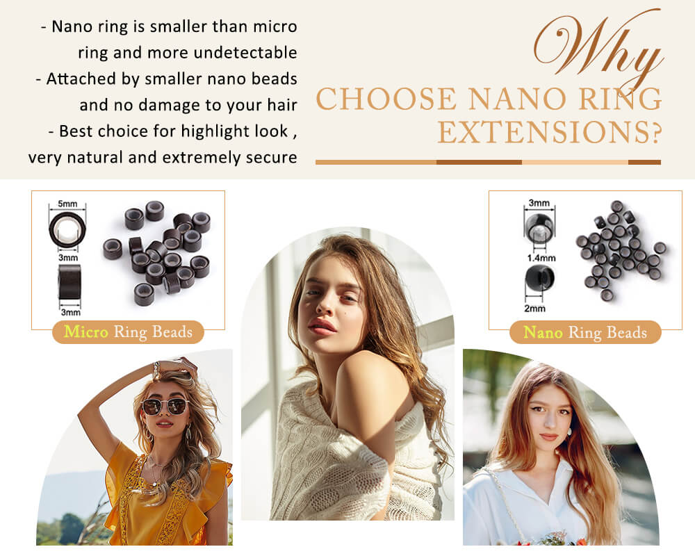 why choose remy nano ring human hair extensions