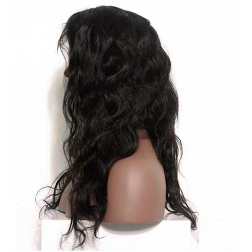 Moresoo Body Wave Brazilian Front Lace Wigs With Baby Hair Off Black