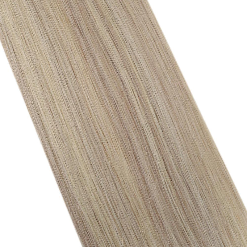 [Clearance] Moresoo I Tip Keratin Hair Extension Human Hair Ash Blonde #18 Highlighted With Bleach Blonde #613(#P18/613)