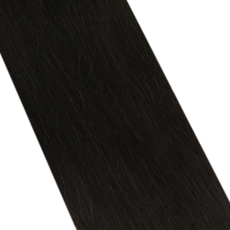 Moresoo Virgin Inject Tape Hair Seamless Injection Tape Hair Virgin Quality Human Hair Extension Off Black(