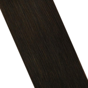 Moresoo 100g Hair Clip In Darkest Brown #2 Brazilian Remy Human Hair Extension(#2)