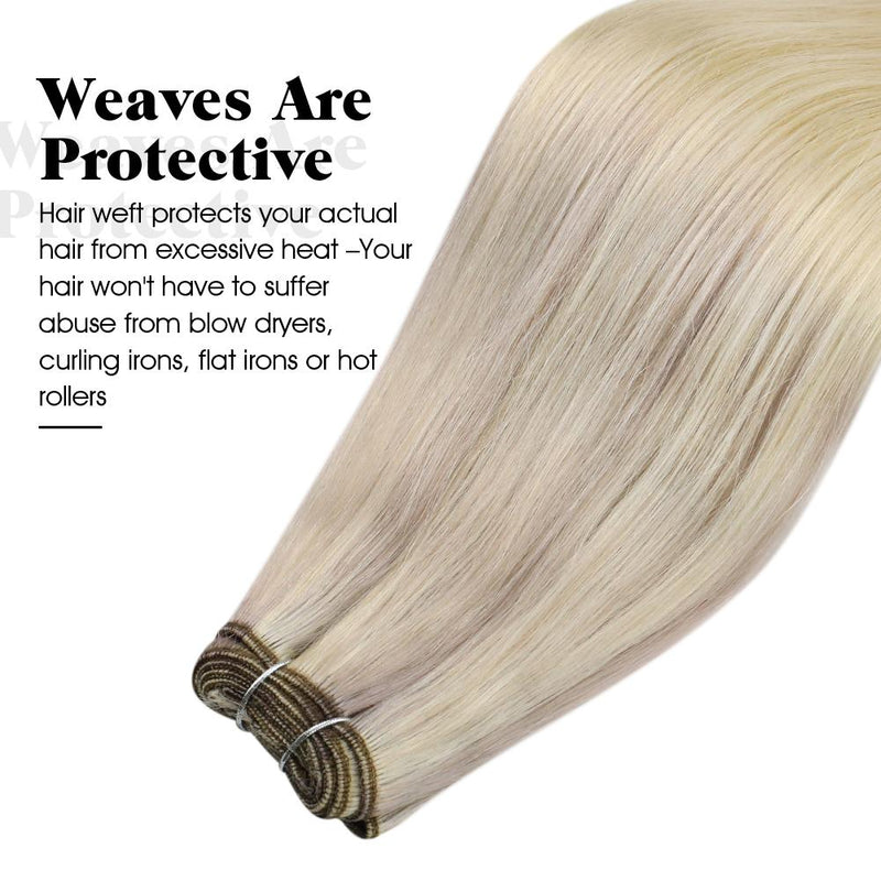 blonde real human hair extensions