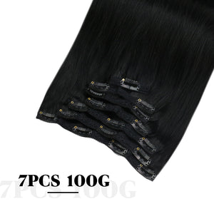 Moresoo 120g Clip In Afro Curly Off Black #1B Brazilian Remy Human Hair Extension(#1B Afro Curly)