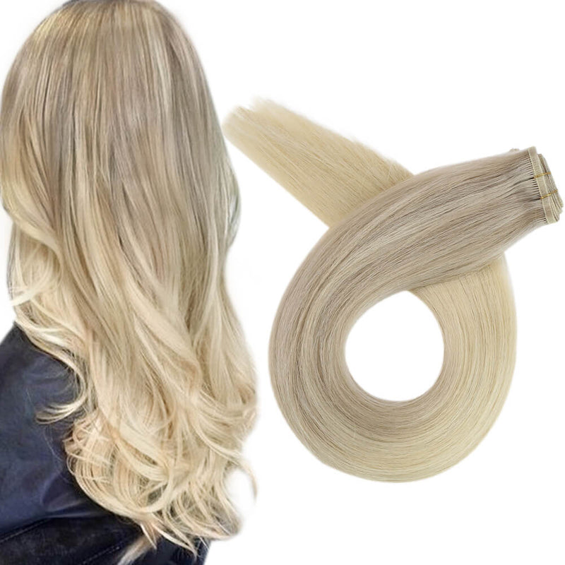 182260 flat weft hair extensions virgin quality hair