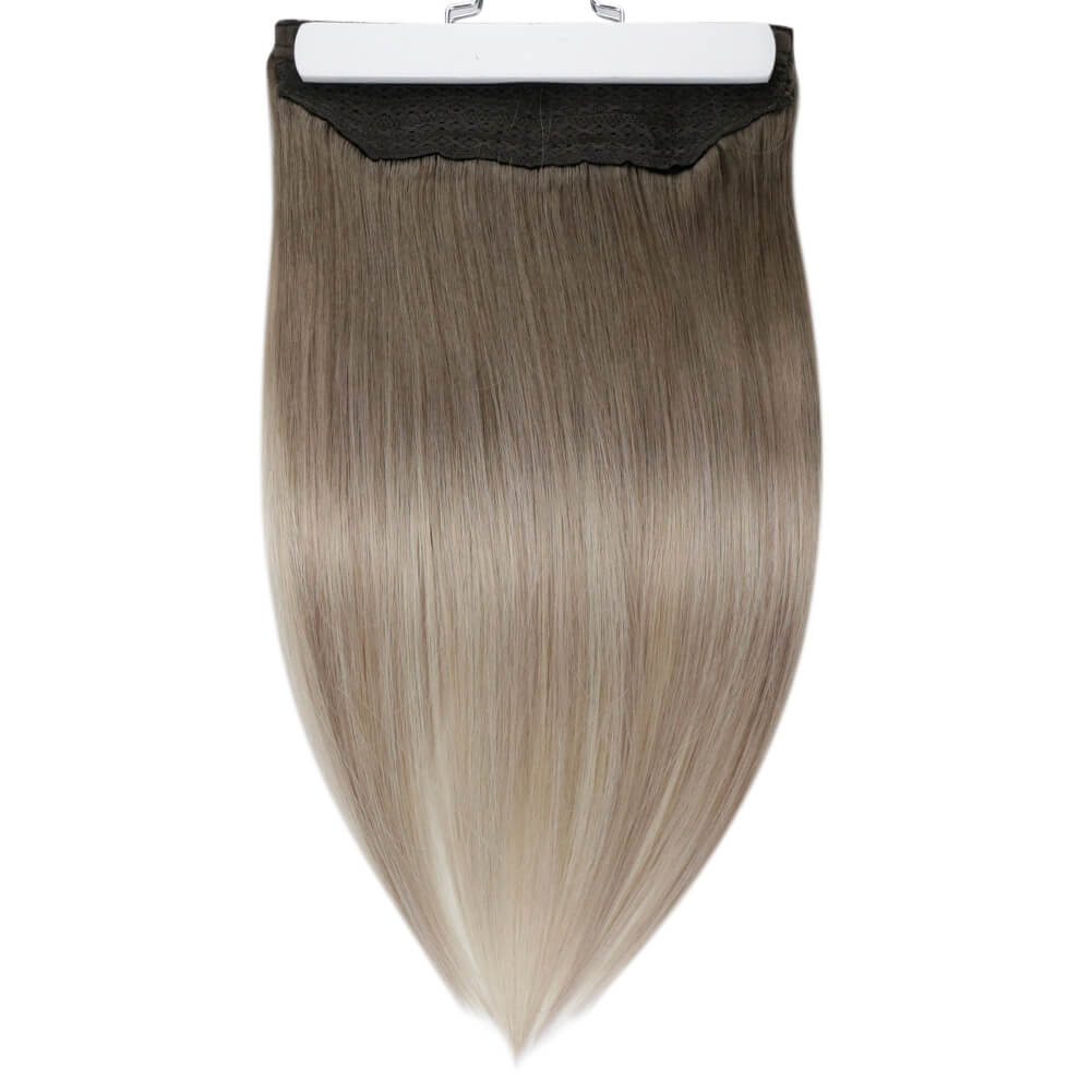Micro Loop Hair Extensions Pure Color Ash Blonde #18(#18) - moresoo