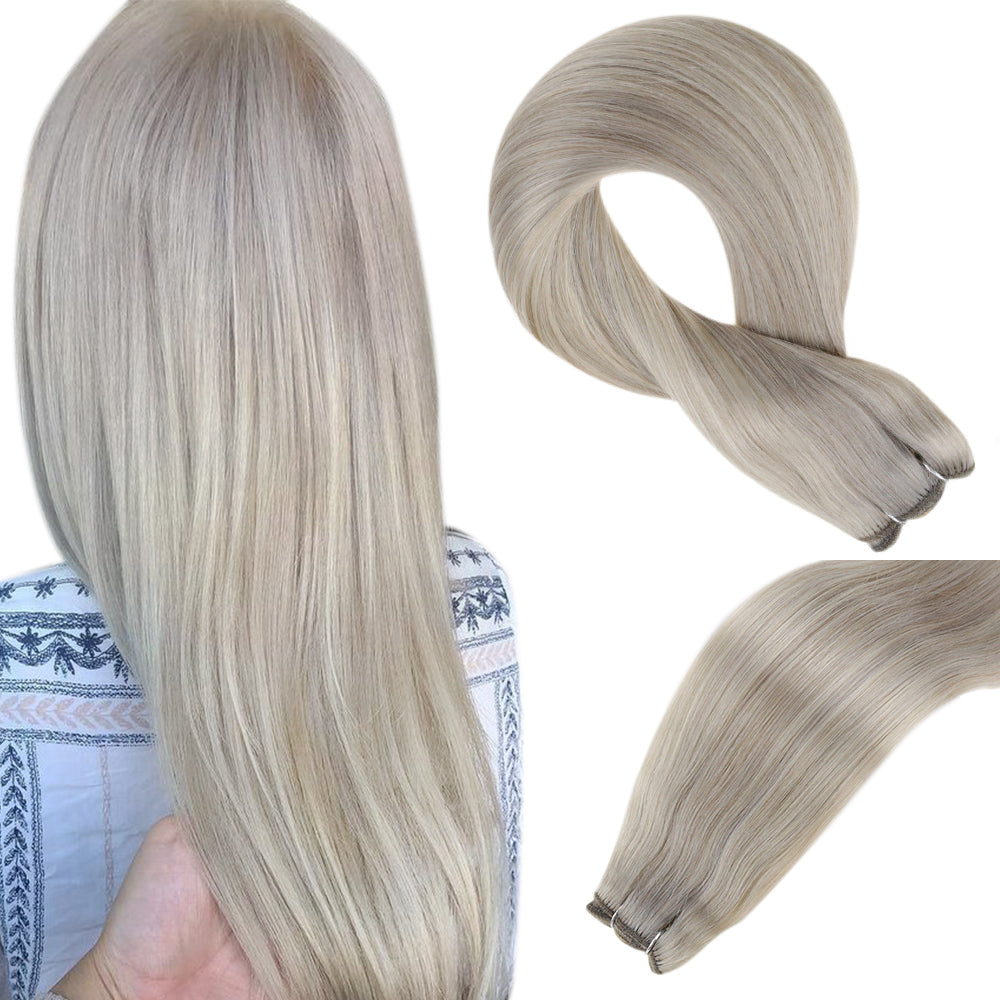 real extensions human hair 100% sew in weft