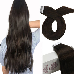 Moresoo 100g Hair Clip in Brazilian Hair Balayage Brown #4 Fading to Blonde #27 Mixed #4(#4/27/4)