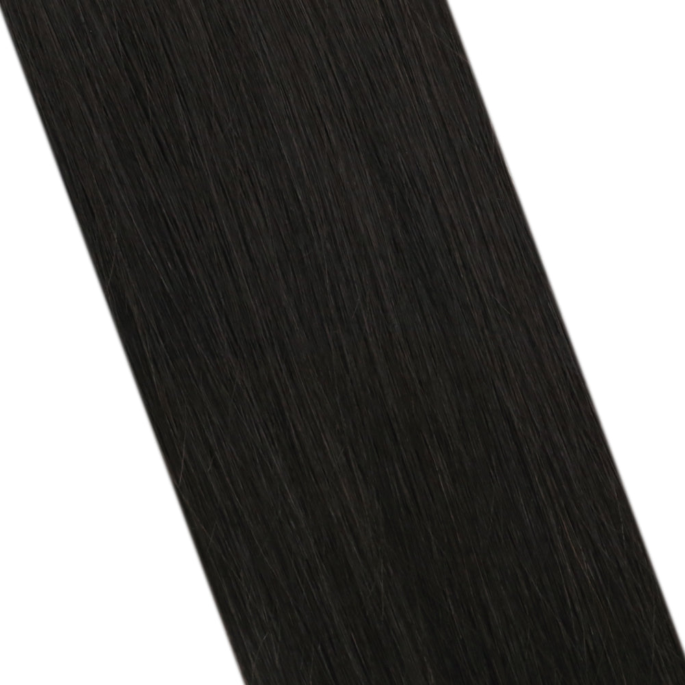 Virgin Natil Tip Remy Human Hair Extension Brazilian U Tip Hair Extension Off Black (#1B)