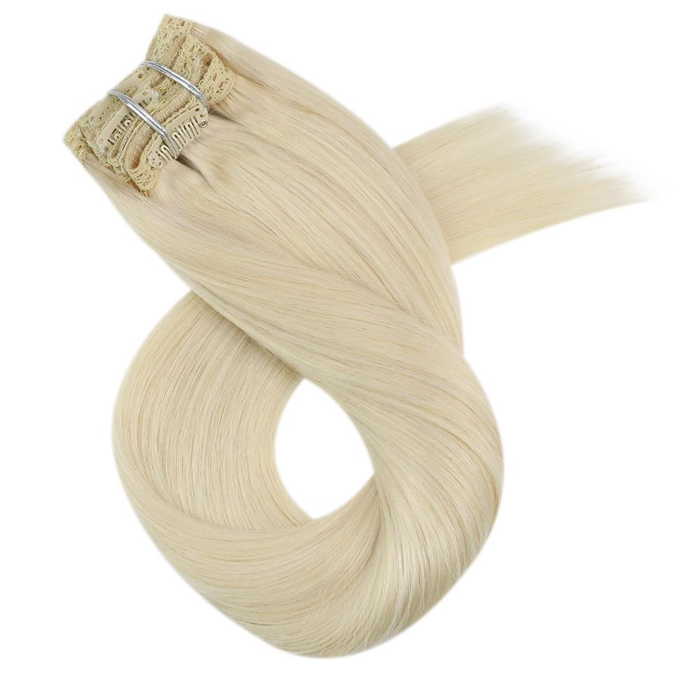 hair extensions clip blonde