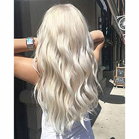 Moresoo Clip in Mono Topper Human Hair 1.5*5 Cap Platinum Blonde #60(#60)