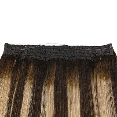 [Clearance] Moresoo Halo Hair Chocolate Brown #4 Fading to Caramel Blonde #27 and #4(#4/27/4)
