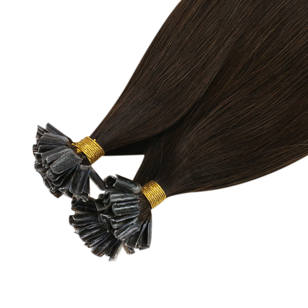 Virgin U Tip Human Hair Extension Virgin Remy Hair Medium Brown (#4)