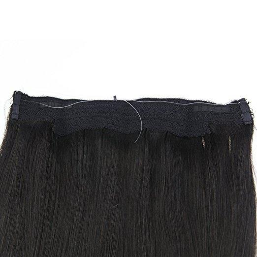 Moresoo Off Black Halo Remy Human Hair Extensions(