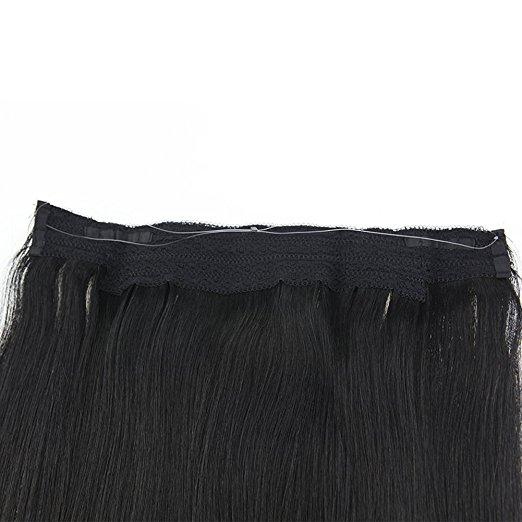 [Clearance] Moresoo Halo Human Hair Thick End Hair Straight Natural Hair Jet Black #1 (#1)