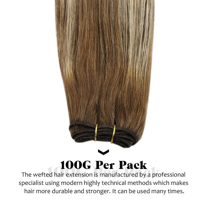 Moresoo Balayage Bundles Human Hair Sew In Weft Hair Extensions Real Remy Hair Weft 14 Inch To 24 Inch