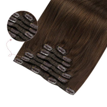 Remy clip in hair extensions healthy hair thick end strong clip double weft hair