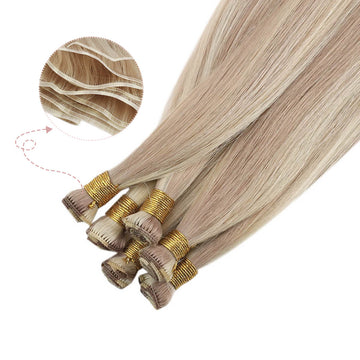 hand tied weft hair extensions virgin quality hair