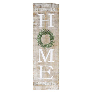 "Farmhouse Style Home Vertical Wooden Wall Hanging Plaque Sign, 9"" x 30"""