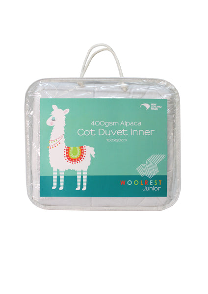 Cot Duvet Inner: 400gsm Alpaca (Machine Washable)