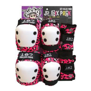 187 Junior Pad Set Pink Leopard