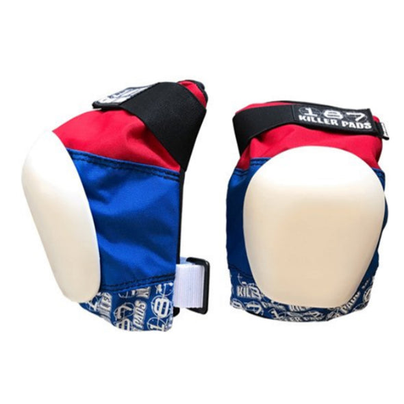 187 Pro Knee Pads Blue and Red