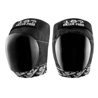killer 187 black white knee pads