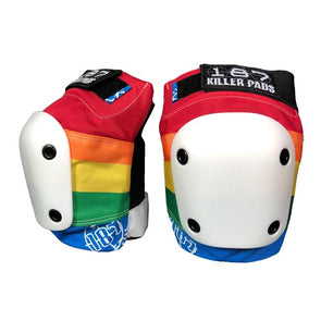 rainbow knee pads
