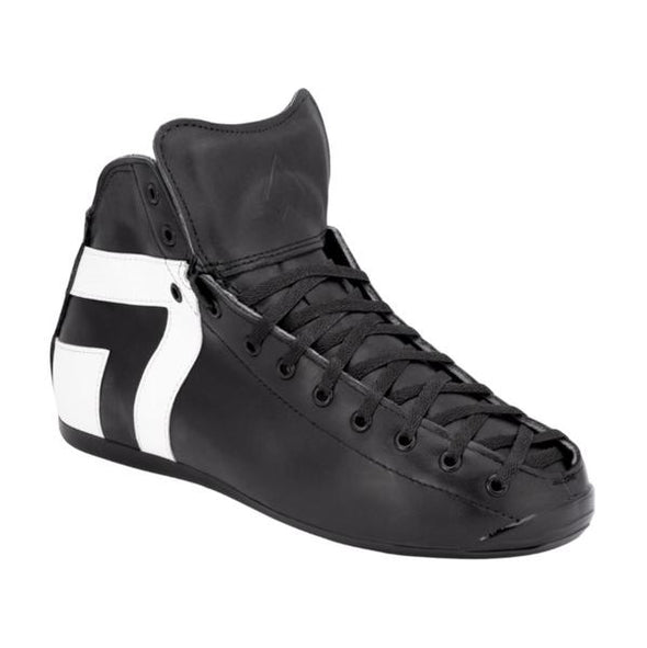 black white high top skate