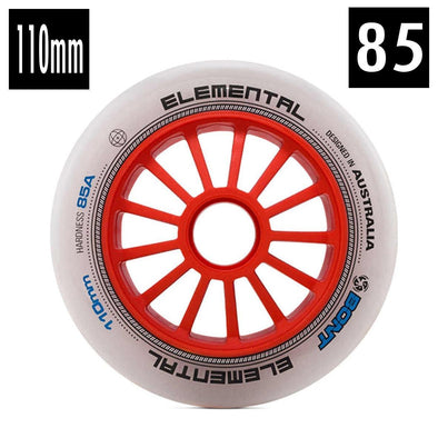 WHITE TRI SKATE 110MM WHEEL