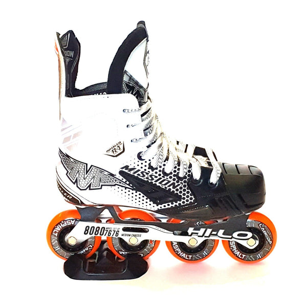 white outdoor mission inline skates