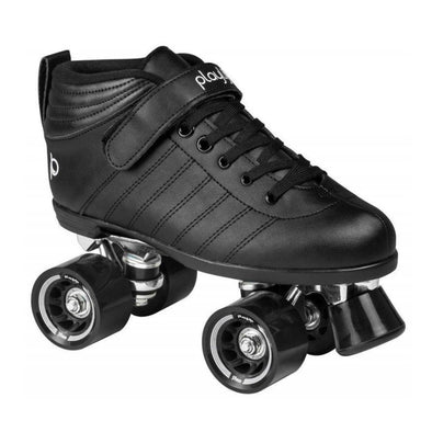 black low cut rollerskate