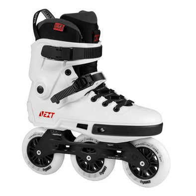 WHITE BLACK tri skates with trinity frame